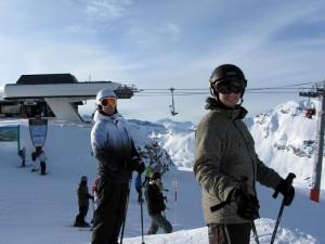 Jag och Henrik Roslund i backen