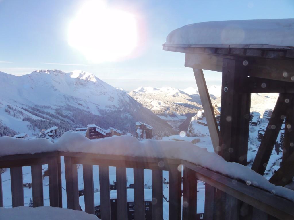 Synen som mötte oss från balkongen i morse